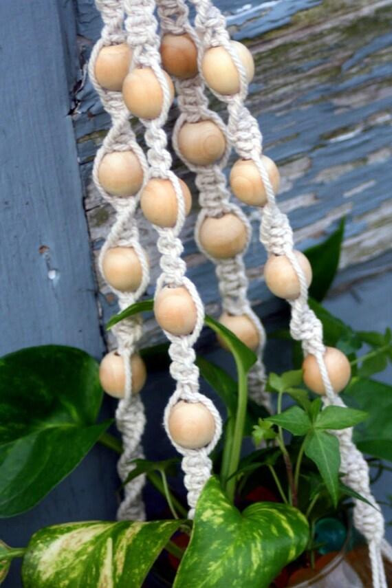 Cottonwood Handmade Cotton Cord Macrame Plant Hanger Shabby-Chic Hanging Basket