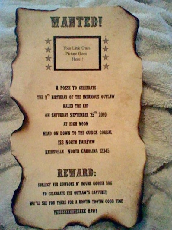 Cowgirl Invitation Wording with nice invitations template