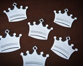 Birthday Favor Gift Hanging Tags Crown Prince Thank you set of 48 - CupcakeDream