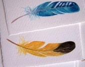 hand-painted note cards, feathers, beautiful paper, invitations,thank yous