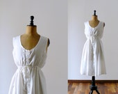 Vintage 1980s white slouchy dress