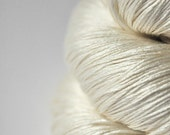 Ghost - natural Silk Lace Yarn - knotty skein
