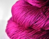 Electric light purple - Silk Lace Yarn - knotty skein