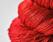 Red hot Inferno OOAK - Silk Yarn Lace weight