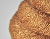 Molten caramel toffee OOAK - Tussah Silk Yarn Lace weight