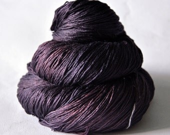 Freshly Squeezed Grapes - Silk Lace Yarn - knotty skein