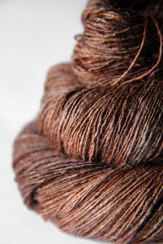 Mother earth is stirring - Tussah Silk Yarn Lace weight