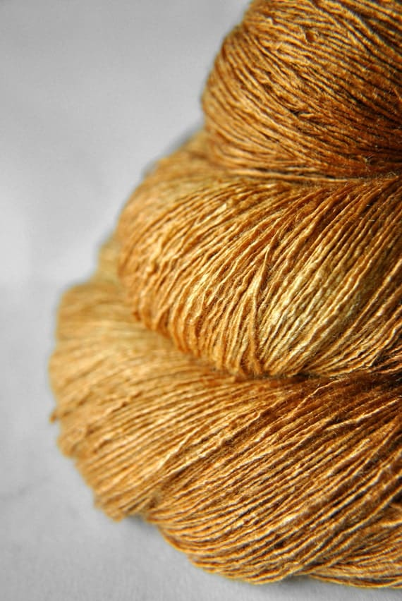 Dead Leaves - Tussah Silk Yarn Lace weight
