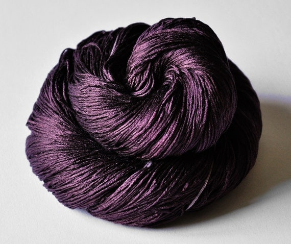 Rotten plums OOAK - Silk Yarn Lace weight