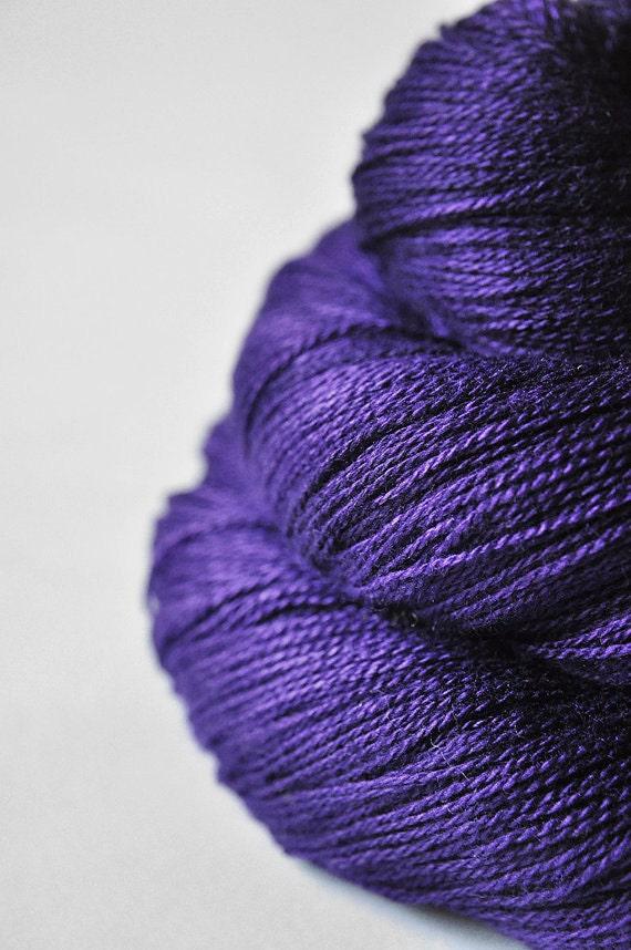 Toxic blue iris OOAK - Silk/Merino Yarn Lace weight