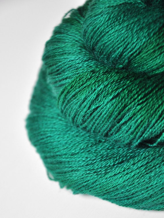 Too much Absinthe OOAK - Silk/Cashmere Yarn Fine Lace weight - LIMITED EDITION
