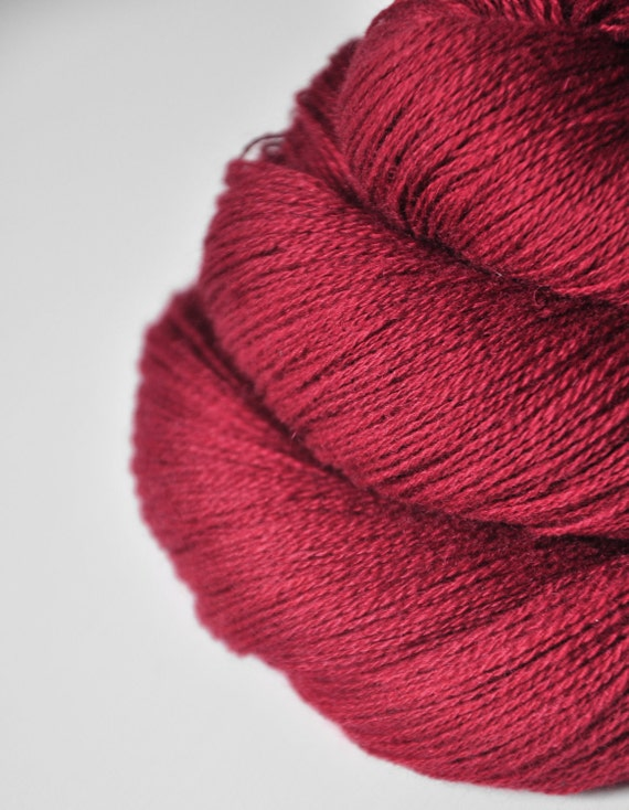 Hot desire OOAK - Silk/Cashmere Yarn Fine Lace weight - LIMITED EDITION