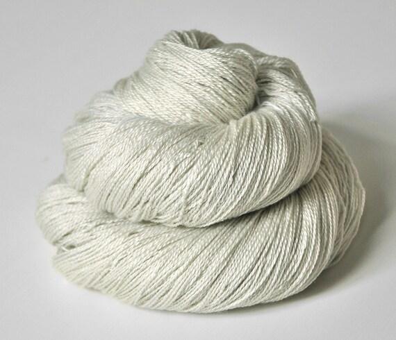 Ghost of dried peas OOAK - Silk/Merino Yarn Lace weight