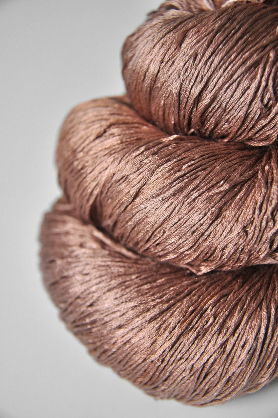 Lace Weight Yarn : Molten nougat truffles OOAK Silk Yarn Lace weight by DyeForYarn