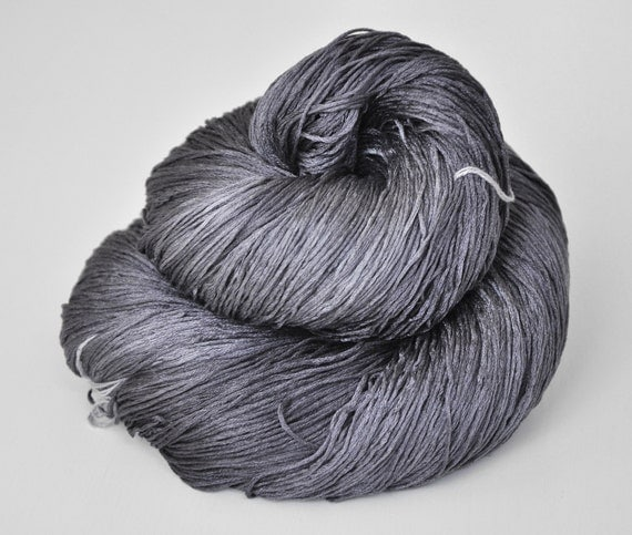 In the gray shadows OOAK- Silk Yarn Lace weight