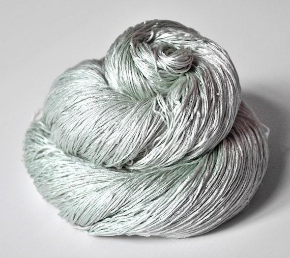 Fading ghost of mint OOAK - Silk Yarn Lace weight