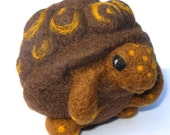Turtle, nature inspired needle felted wool ball