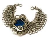 Wire Wrap Chainmaille Labradorite Bracelet