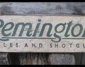 Vintage Remington Rifles & Shotguns Trade Sign