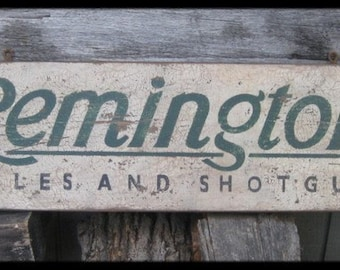 Vintage Remington Rifles & Shotguns Trade Sign
