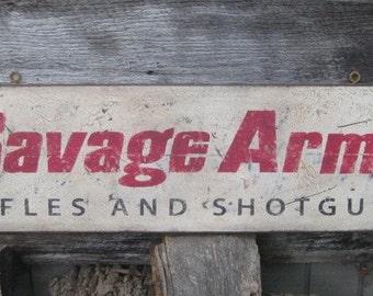 Vintage Savage Arms Rifles & Shotguns Trade Sign