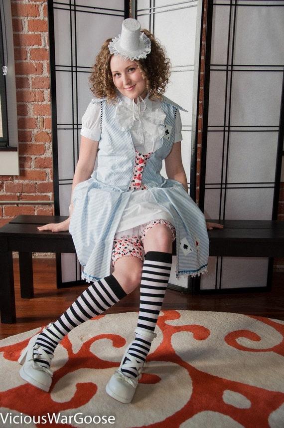 Alice in Wonderland  3 piece dress and bloomer set