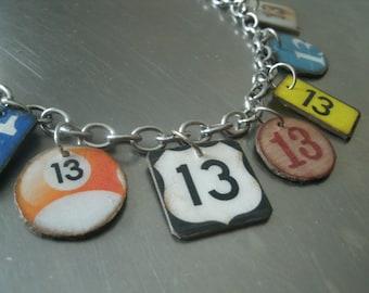 lucky number 13 bracelet