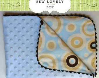 Sew Easy Ruffle Baby Blanket Tutorial