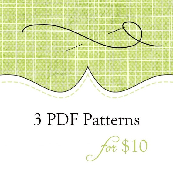 3 PDF Patterns for just 10 Dollars