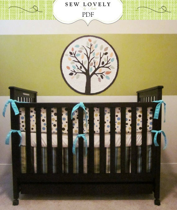 Complete Crib Bedding Set Sewing Pattern Includes 3 Pdf