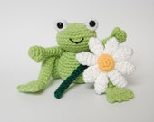 PDF - Crochet Pattern for Frog Prince and Daisy Amigurumi - Instant Download