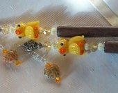 Yellow Ducks hairsticks