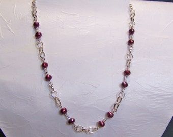 Black Cherries on Silver Necklace     51