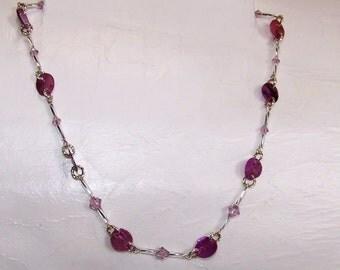 Purple, Purple Necklace  271
