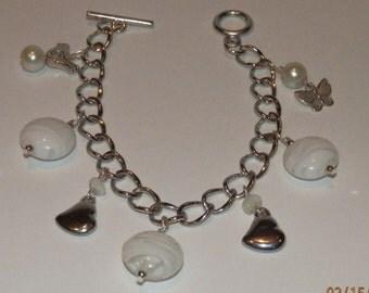 Pretty in White Charm Bracelet  284