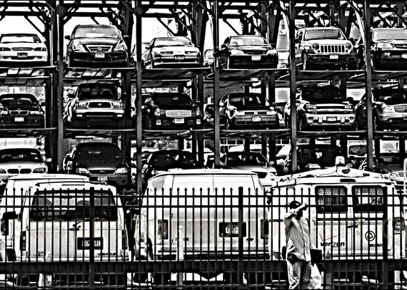 SALE, 11x14 matted photo, New York photo, cityscape, NYC,  abstract, high contract, worker, photo on watercolor, paper wall art, home decor,