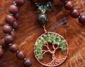 peridot tree of life necklace...