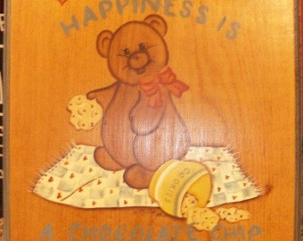 Happiness is.. Wall Plaque - 80s Crafty
