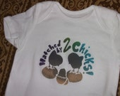 Lesbian Pride Hatched by 2 chicks LGBT hand-stenciled unisex onesie by Rainbow Alternative on Etsy