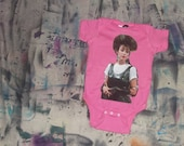 80s Iona from Pretty in Pink (Annie Potts) baby onesie bright pink