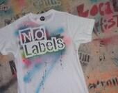 Transgender LGBT Gay Lesbian Pride No Labels crew neck t shirt by Rainbow Alternative on Etsy