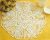 Crocheted Doily - Sunny Day free shipping