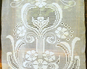 Crochet Lace Curtain - Summer
