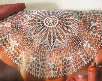 Crocheted Doily - Lotus free shipping