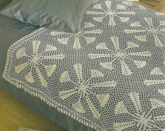 Crocheted Bedspread-Throw - Morning Coffee