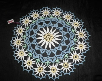 Crocheted Doily - Daisy free shipping