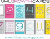 Baby Growth Cards (months 1-12)
