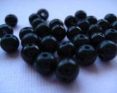 Black Round Pearl Beads 20 pcs 8mm
