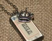 Vintage Wish Ticket handmade necklace
