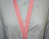 Lanyard ID Badge Holder or Camera Strap - Free Personalization - Hunky Dory Pink Polka Dots - Ready to Ship